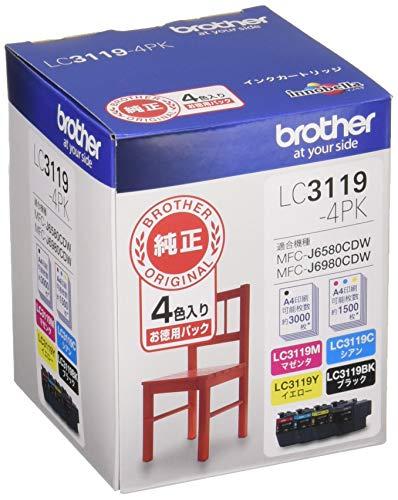 【brother純正】インクカートリッジ4色パック(大容量) LC3119-4PK