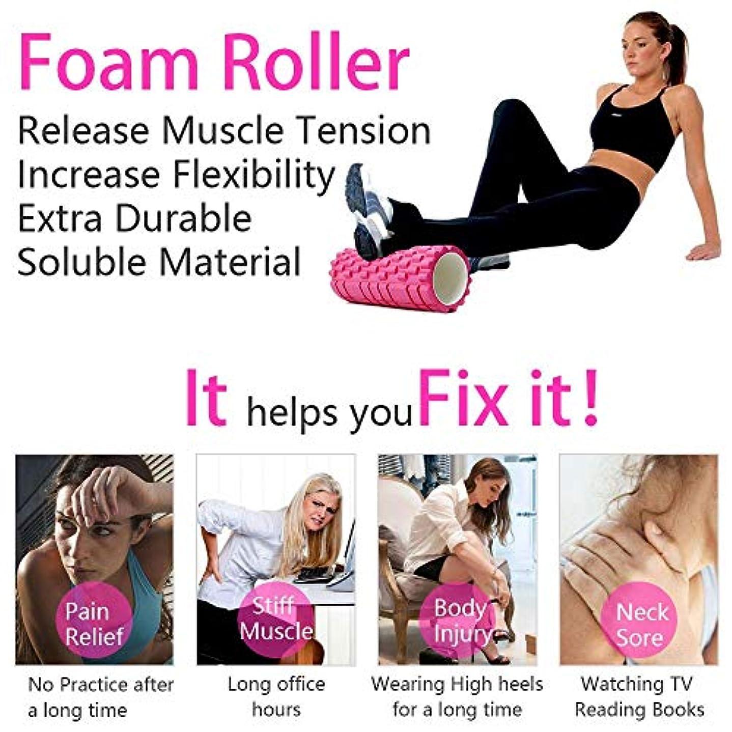 フィットネス倒錯チャットヨガコラム フィットネス フォーム ヨガピラティス ローラー ブロックトレーニングジムマッサージグリッドトリガーポイントセラピー(Color : ピンク)Yoga column fitness form yoga pilates roller block training gym massage grid trigger point therapy (Pink)