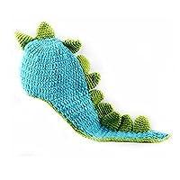 Outfun 赤ちゃん 織り かぎ針 編み 恐竜 写真道具 ビーニー コスチューム 柔らかい