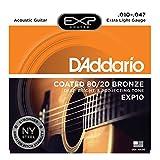 D'Addario ダダリオ アコースティックギター弦 EXPコーティング ブロンズ Extra Light .010-.047 EXP10 【国内正規品】