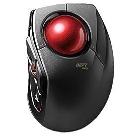 エレコム トラックボールマウス 【3年保証】 有線/無線/Bluetooth 3種の接続方式対応 人差指 中型ボール 8ボタン チルト機能 ブラック M-DPT1MRXBK