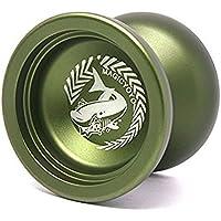 マジックヨーヨー,MAGIC YOYOシャーク名誉N12フィンガースピンヨーヨーサンドブラスト仕上げ マジックヨーヨーサック付き 緑