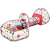 (イークスン) EocuSun 子供用テント セット 二代目 ボールプール ボールピット 折り畳み式 トンネル バスケットネット 収納バッグ付き (3in1)