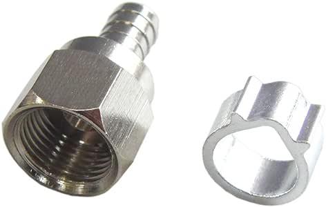 富士パーツ商会 4K8K放送対応 アンテナ接栓 10個入り 4C用F型接栓 アルミリング 4C-10P
