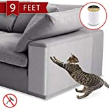 Anti-Scratch Cat Tape - 250% Wider, 8 Inches x 9 feet - Cat Scratch Prevention, Training and Deterrent Tape for Furniture, Co