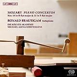 モーツァルト : ピアノ協奏曲 全曲シリーズ 第6集 (Mozart : Piano Concertos Nos 18 in B flat major & 22 in E flat major / Ronald Brautigam (fortepiano) , Die Kolner Akademie , Michael Alexander Willens) [Hybrid SACD] [輸入盤]