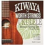 【Worth×KIWAYA】 K-BM フロロカーボン弦 セット (オールサイズ対応 ウクレレ弦 ブラウン)