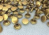 ●クラフト金具 両面カシメ 頭径10mm 足9mm アンティークゴールド(真鍮古美) 100個入り 使いやすい 良い品質