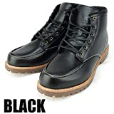 DECT(デクト) 防水 ワークブーツ レインシューズ スノーブーツ メンズ 靴 (27cm, ブラック)