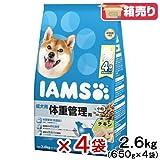 箱売り アイムス 成犬用 体重管理用 チキン 小粒 2.6kg お買い得4袋入り