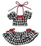 1/12 ギンガムチェックパフスリーブビキニセット ブラックチェック ピコニーモ PIC145-BLK ドール服
