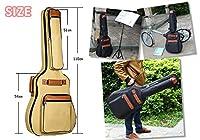 ANR innv ソフト ギターケース ショルダーリュックタイプ ギグバッグ 練習 エフェクタ ーシールド ストラップ ポケット (ベージュ)