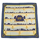HERMES スカーフ カレ エルメス スカーフ カレ90 (パリの橋 LES PONTS DE PARIS ネイビー シルク) HERMES【中古】