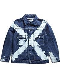 【Z16AA01】 ゼファレン Zephyren アウター デニムジャケット 長袖 かっこいい ブリーチ ウォッシュド アメカジ 正規品 インディゴブルー