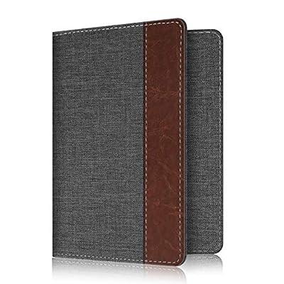 Fabric Passport Holder Cover, Fintie RFID Blocking Passport Case Travel Wallet