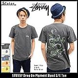 (ステューシー) STUSSY Tシャツ 半袖 メンズ Drag On Pigment Dyed(1903875 ) サイズS ライトネイビー [並行輸入品]