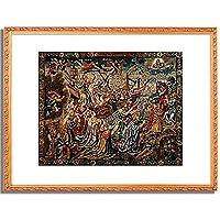 Tapisserie,Brussel um 1530「Allegorie der Hoffnung.」インテリア アート 絵画 プリント 額装作品 フレーム:装飾(金) サイズ:XL (563mm X 745mm)