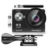 AKASO EK5000 WIFI アクション カメラ スポーツカメラ 1080P 1200万画素 Full HD 30メートル防水 カメラ2インチ LCD バイクや自転車/カート/車に取り付け可能 空撮やスポーツに最適 二つバッテリー&豊富な...