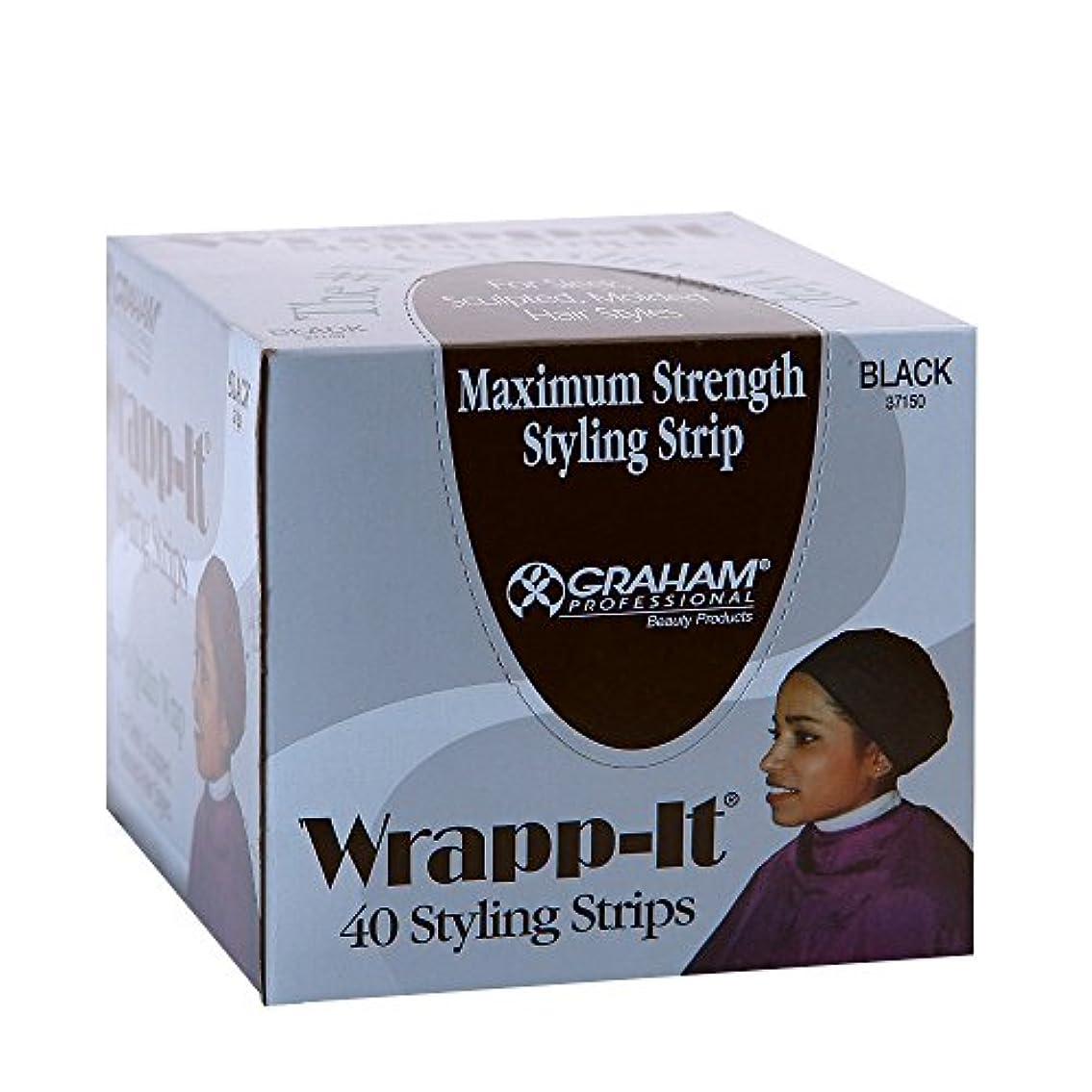 アルカトラズ島姓飼いならすGraham Professional Beauty Wrapp、それブラックスタイリングストリップ