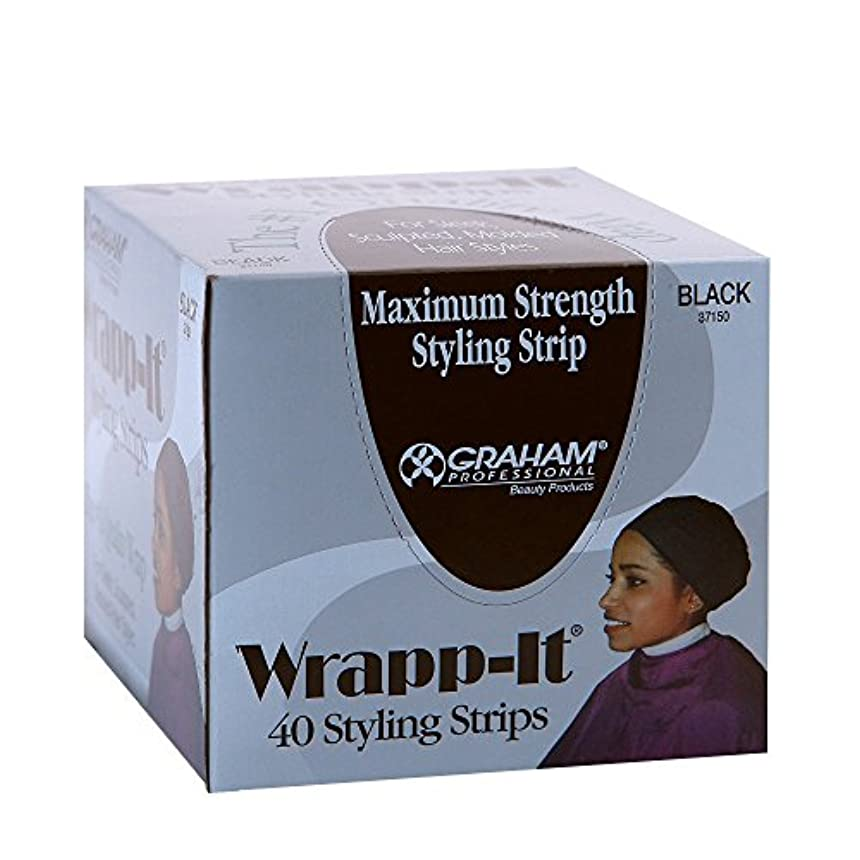 シルクできるテロリストGraham Professional Beauty Wrapp、それブラックスタイリングストリップ