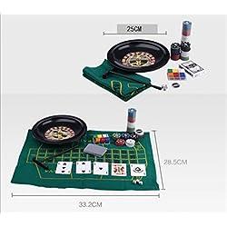 おもちゃの神様® カジノ ポーカー ルーレット セット ルーレット・マット・コイン・コインスティック 全て揃ってます!
