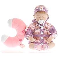 SanyDoll Reborn Baby Doll Soft Silicone vinyl 18 inch 45 cm Lovely Lifelike Cute Baby Boy Girl Toy Beautiful wool