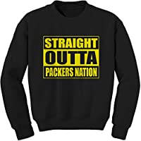 Expression Tees Men's Crew Straight Outta Packers Nation Football Adult