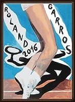 ポスター マーク デスグランドチャンプ ローランギャロス 2016年 額装品 ウッドハイグレードフレーム(オーク)