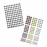 【オルルド釣具】 フィッシュアイ 3カラー 4サイズ ホログラフィック 接着 釣りルアー DIYシリーズ qb500040d01n0