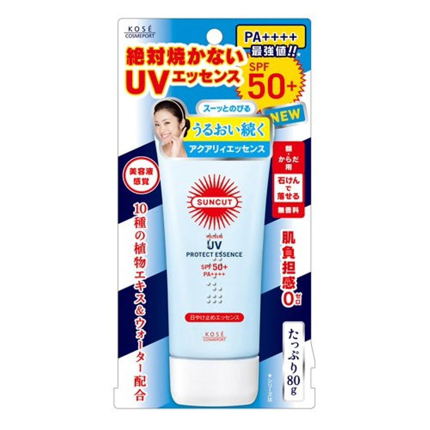 トランジスタ特徴風味コーセー サンカット 日やけ止めエッセンス 80G×48点セット  SPF50+ PA++++(紫外線?UV対策?日焼け止め)