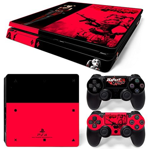 ZoomHit Ps4 Slim Playstation 4 Slim Console Skin Decal Sticker Harley Quinn + 2 Controller Skins Set Slim Only [並行輸入品]