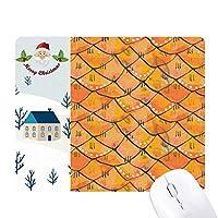 規則的なパターンの抽象的な木の不思議 サンタクロース家屋ゴムのマウスパッド
