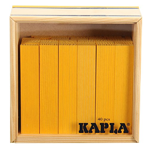 Kapla [ カプラ ] 魔法の板 カラー[ カプラ ] 40枚入 クアドラット C40 イエロー...