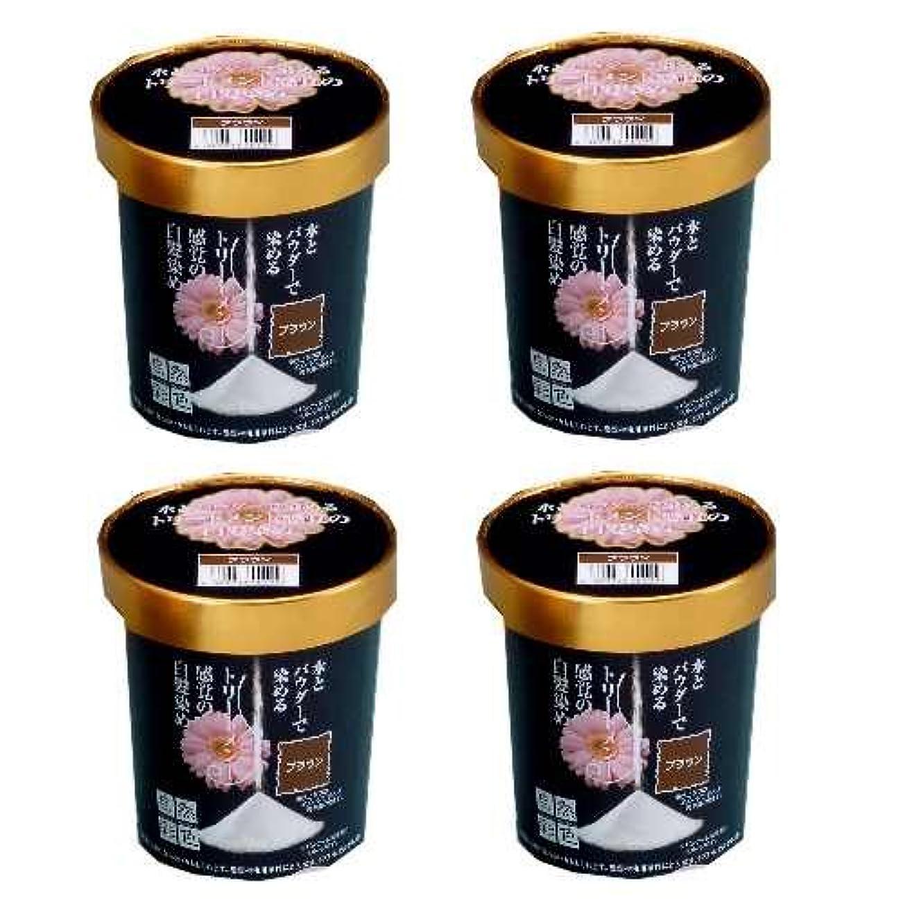 パンフレットコーヒー教え自然彩色 ナチュラルブラウン 同色4個組