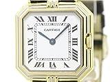 [カルティエ]Cartier【CARTIER】カルティエ サンチュール K18 ゴールド レザー クォーツ ユニセックス 時計-(BF113906)[中古]