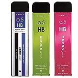トンボ鉛筆 シャープペン芯 MONO モノグラフMG 0.5 HB 3色 3個 ECG-321X