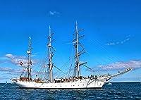 絵画風 壁紙ポスター (はがせるシール式) 帆船 クリッパー セーリング・シップ ヨット 航海 海 キャラクロ SSHP-010A2 (A2版 594mm×420mm) 建築用壁紙+耐候性塗料