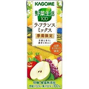 カゴメ 野菜生活100 ラ・フランスミックス 200ml×24本