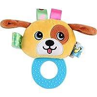 Dalinoベイビーズおもちゃベビーラウンドかわいい動物ゴムリングRattles Hand Toy (犬)