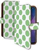 HUAWEI Mate10 lite ケース 手帳型 コインドット 緑 ドット柄 ドット スマホケース ファーウェイ メタ10 ライト 手帳 カバー mate10lite メタ10liteケース メタ10liteカバー ボーダー 水玉 シンプル 水玉模様 [コインドット 緑/t0610a]