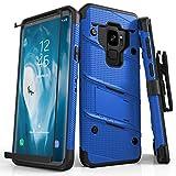 Zizo Boltシリーズ Samsung Galaxy S9ケース対応 ミリタリーグレード 落下試験済み 強化ガラス スクリーンプロテクター ホルスター 1BO..