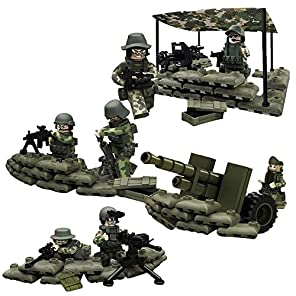 R&M 米軍 フィギュア ブロック 砲兵旅団 密林特殊部隊 7体 重火器セット 互換あり