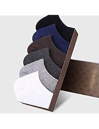ソリッドカラーソックススポーツの男性の綿の消臭靴下の夏の薄いセクションは、汗の滑り止めステルスソックスを吸う ( 色 : 1 )