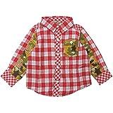 【春物】 CHILD CHAMP(チャイルド チャンプ) Wガーゼ格子迷彩切替格子シャツ 80cm /R NO.C-86161202