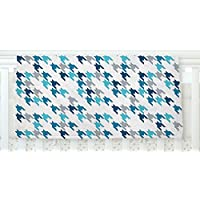 KESS InHouse Project M Blue Tooth Navy White Fleece Baby Blanket 40 x 30 [並行輸入品]