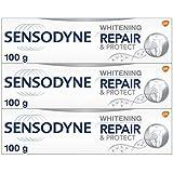 Sensodyne Sensodyne Sensitive Toothpaste Repair & Protect + Whitening for Sensitive Teeth Pain Relief 3 Pack, 100 grams, Pack of 3
