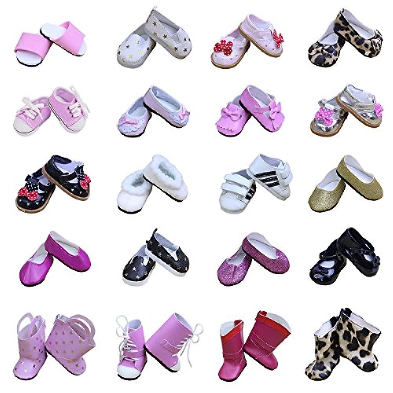 ZITA ELEMENT アメリカガールドール用靴 アクセサリー ラダム 5足靴セット 1/4サイズ(約46cm)ドール適用