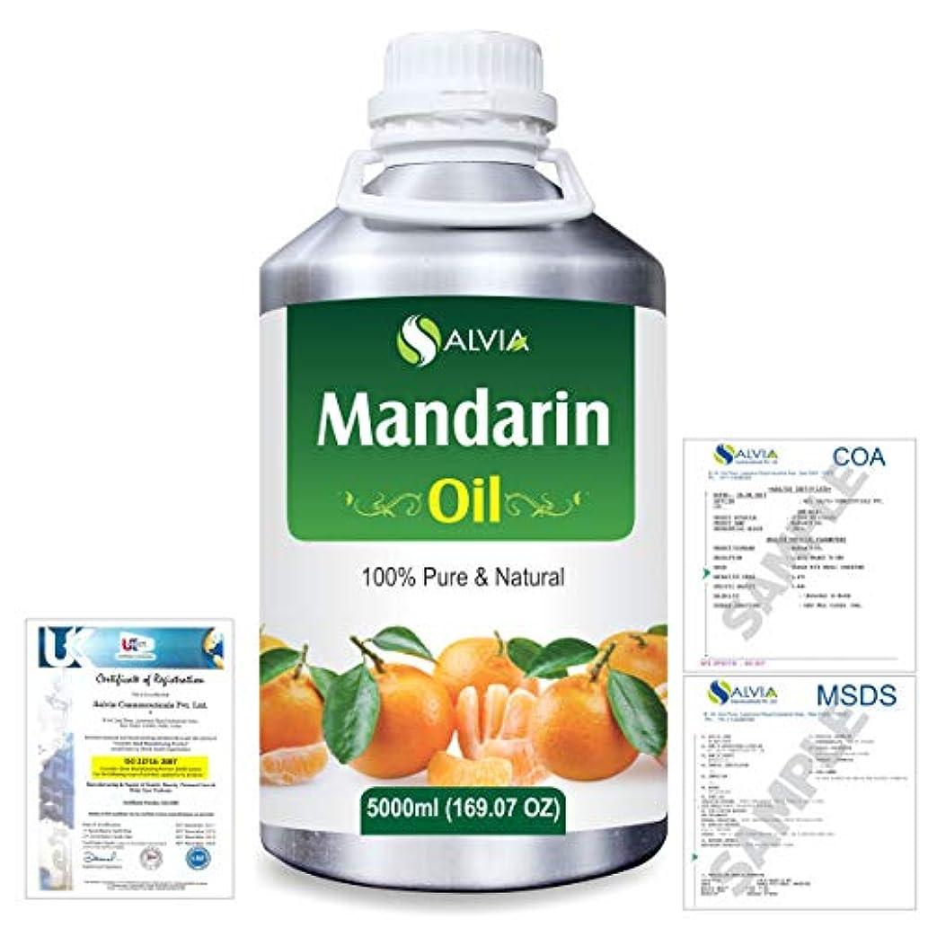 後ろに伝染性よろめくMandarin (Citrus reticulata) 100% Natural Pure Essential Oil 5000ml/169fl.oz.