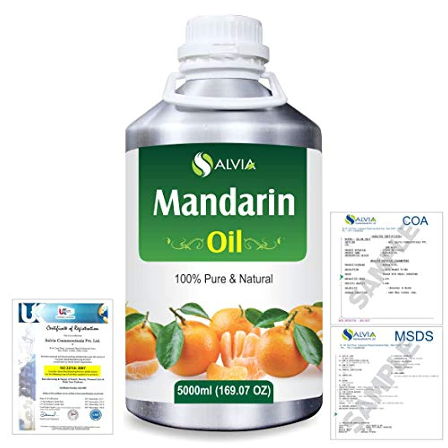 処理コメンテーター統計的Mandarin (Citrus reticulata) 100% Natural Pure Essential Oil 5000ml/169fl.oz.