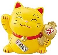 幸せ招き猫宝くじ入れ中とら(貯金箱) SN-041